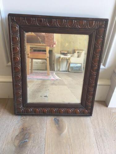 Vintage Parisian Carved Wood Mirror, 1930's-1940's