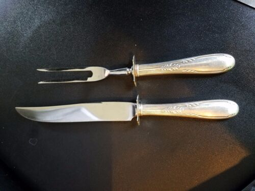 Sterling Handle Serving Fork & Knife Set Stainless steel