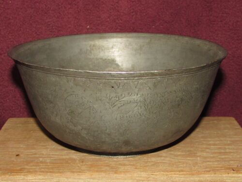 Antique Middle Eastern Islamic Tinned Copper Bowl Early
