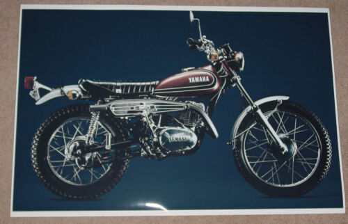 1973 YAMAHA RT3 360 VINTAGE MOTORCYCLE POSTER 16x24 STYLE B 9MIL PAPER