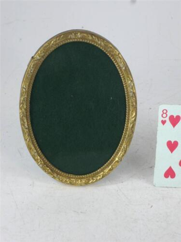 Small Embossed Brass Ovel Picture Frame Victorain