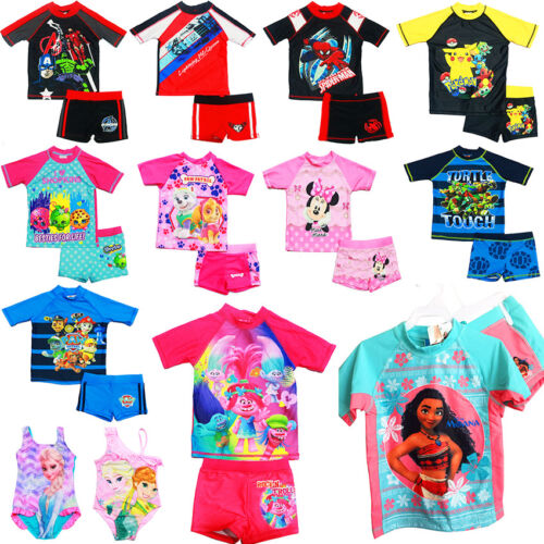 NEW SIZE 1-12 KIDS SWIMSUIT BOYS BATHERS GIRL TRUNK BEACH TOGS SWIMWEAR POOL PAW