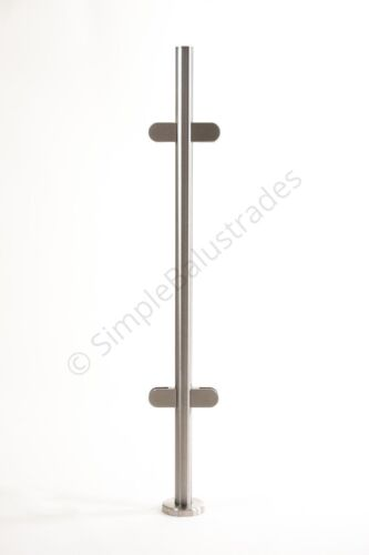 Stainless Steel Balustrade Posts- No Top Rail Marine Grade 316 <br/> Best On Ebay-UK's No.1-Free Delivery-Instant Dispatch