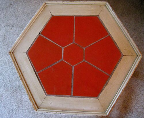 California tile table Catalina Island Red Toyon tiles vintage spanish revival