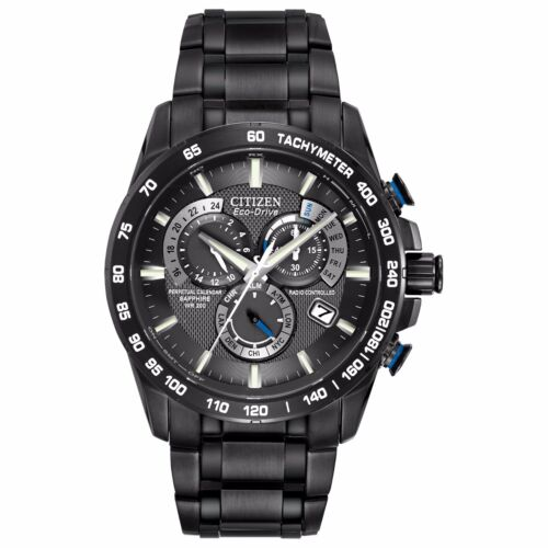 Citizen Eco-Drive Men's AT4007-54E Chronograph Perpetual Calendar 42mm Black