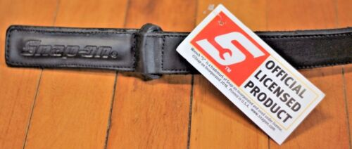 NEW Snap on Tools Genuine Leather No-Scratch Black Work Belt S-2XL Pin Enclosure