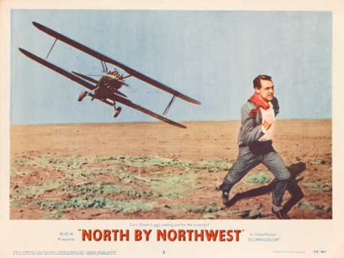1959 NORTH BY NORTHWEST VINTAGE HITCHCOCK MOVIE POSTER PRINT STYLE B 18x24 9MIL