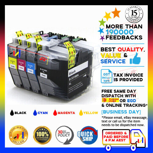4x Generic LC-3319XL HY Ink Set for Brother MFC-J5330DW/5730DW/6530DW/6930DW