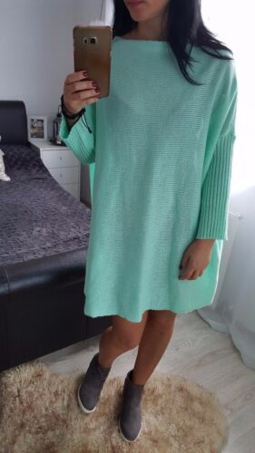 NEW Fashion Oversize Women's Ladies Girls Jumper mint long sleeves casual pocket