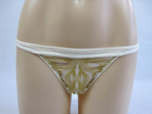 Pleasure State Helix Thong G String Underwear size Small Colour Ecru Gold