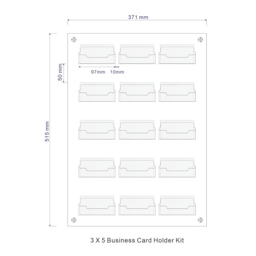 15 Pocket Wall Mount Business Card Holder Unit