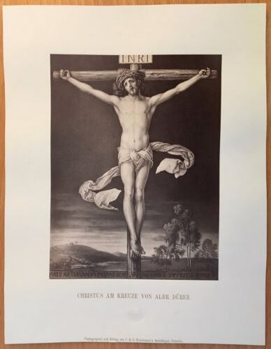 1870 PHOTOGRAPH RENAISSANCE ART Albrecht Durer CHRIST ON THE CROSS Dürer DRESDEN