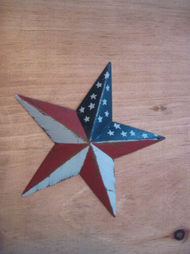 "5.5 "" Red, white and blue barn star metal primitive"