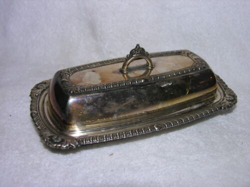 Vintage Pilgrim Silverplate Butter Dish Post 1940 #73