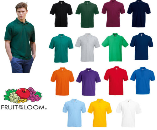 Fruit of the Loom 65/35 Polo All Colours & Sizes Mens Polo T Shirt Size S M L XL