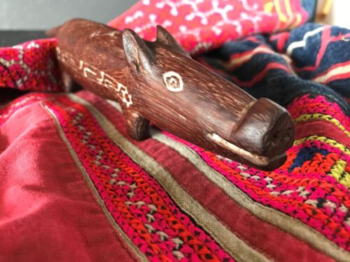Old Papua New Guinea Trobriand Islands Carved Wooden Pig …beautiful collection..