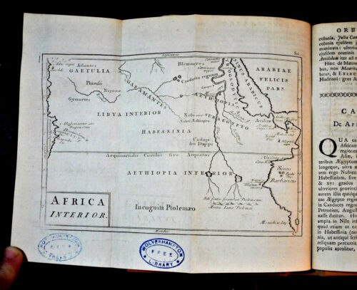 1786 Original Geogr Map.AFRICA INTERIOR,LIBIA ABISSINIA,AETIOPIA.CELLARIUS