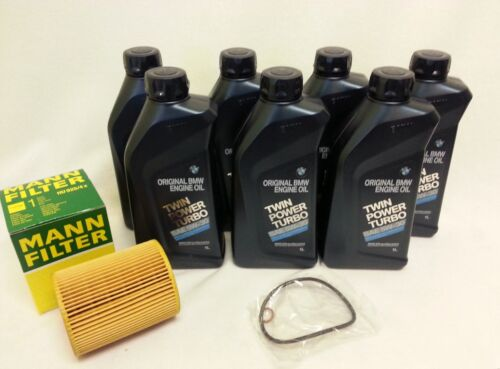 New Genuine 7- BMW Synthetic 5W-30 Motor Oil With HU816x MANN Oil Filter