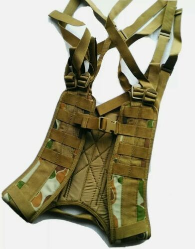 TACTICAL FORCE 8 Point Harness Auscam Military Webbing Double Waterproof Coat Holsters, Belts & Pouches - 73963