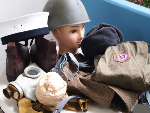 east german military equipment, gas mask, Varnamo boots, helmet, backpack,sailorBags & Packs - 74712