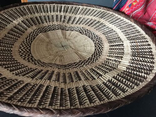 Pacific Islands Hand Made Basket Tray / Table Center piece …beautiful display...