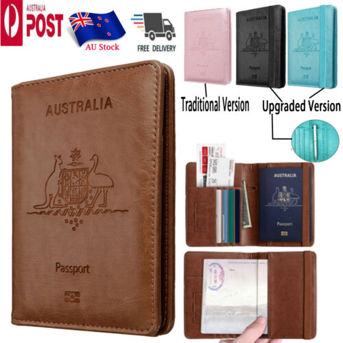 PU Leather RFID Blocking Passport Travel Wallet Holder ID Cards Cover Case <br/> Shipped from AU with the tracking number in 24 hours
