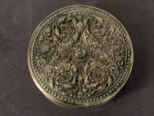 Solid Silver China the South Chinese Export Silver Box Dragon 81 G