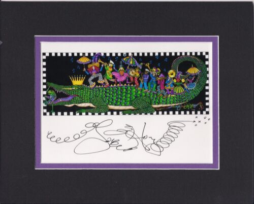 """""""King Gator & his 2nd Line"""" , Mardi Gras 2018 Jamie Hayes, NEW ORLEANS, signed"""