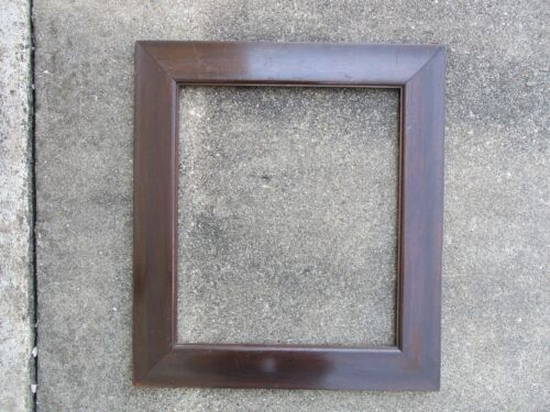 Antique Heavy Mahogany Finish Wood Picture Frame fits 15 x 17-1/2