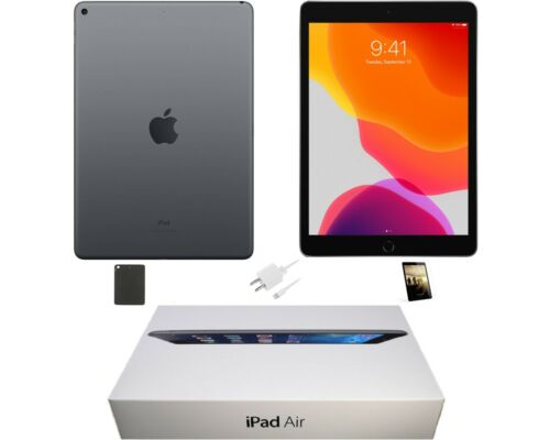 Apple iPad Air 9.7-inch, 32GB, Wi-Fi Only, Space Gray, and Plus Limited Bundle