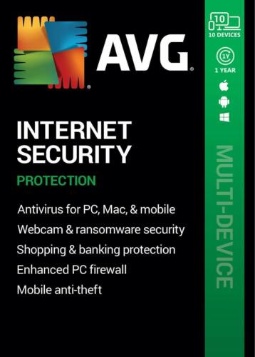AVG INTERNET SECURITY 2021 - FOR 10 DEVICES - 1 YEAR - DOWNLOAD