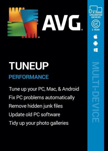 AVG TUNEUP 2020 - FOR UNLIMITED DEVICES - 1 YEAR - DOWNLOAD