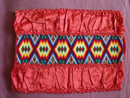 #1395  Beautiful Vintage Hand Embroidered Pillow Case   18''/14''(46cm/35cm)
