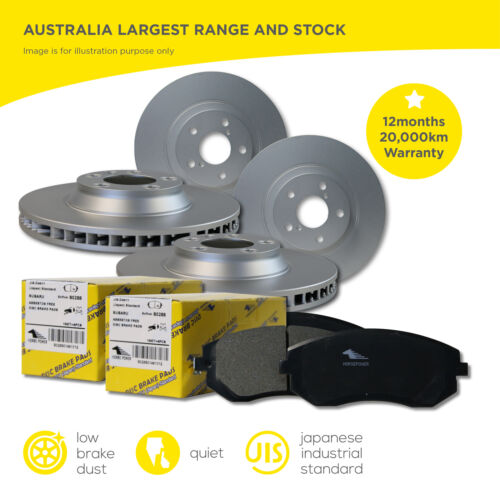 FULL SET Front and Rear Brake Rotors and Brake Pads for COMMODORE VT VX VY VZ