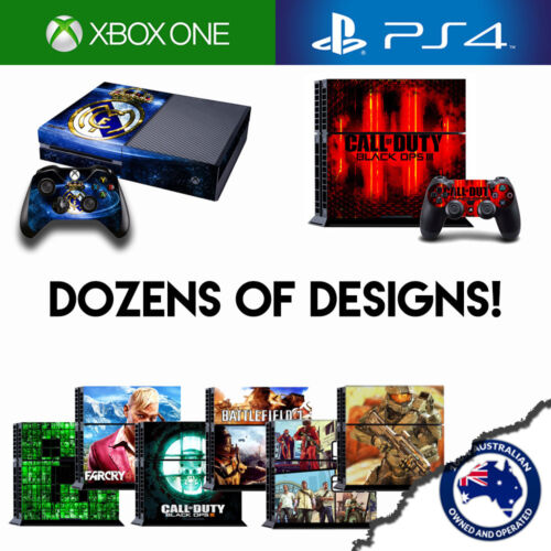 Console Sticker Decal Cover Skin Designs for Playstation 4 / PS4 & Xbox One