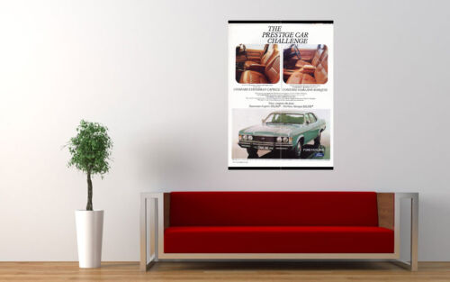 """1978 ZH FAIRLANE MARQUIS BY FORD AD A4 CANVAS PRINT POSTER 11.7/""""x8.3/"""""""