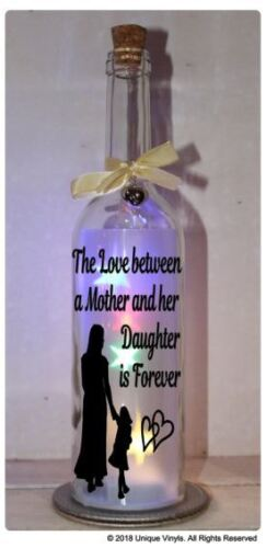 Star, Bottle LED Light Up, The Love between a Mother and Daughter Sticker