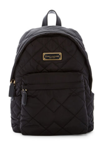 NEW ! NWT MARC JACOBS Quilted Nylon Backpack in Black