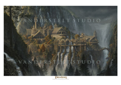 Rivendell - licensed Lord of the Rings paper giclee By Jerry VanderStelt
