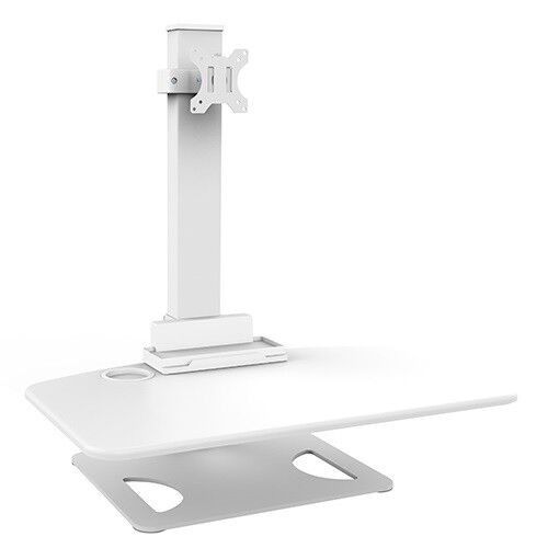 DWS03-T01WH Sit and Stand Station/Desk w/1-Arm Computer Monitor Mount- 50% OFF!