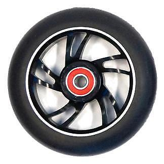 Anodised GOLD // RED 100mm 88A Alloy Metal Core Ballistic Scooter Wheel