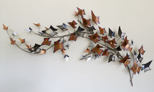 Signed Jere Copper Metal Wall Sculpture Mid Century Modern Brutalist  Eames