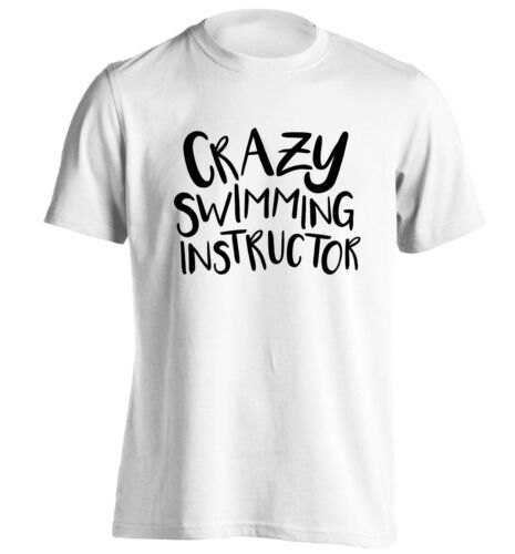 Crazy swimming instructor, t-shirt exercise workout healthy lifestyle coach 4534