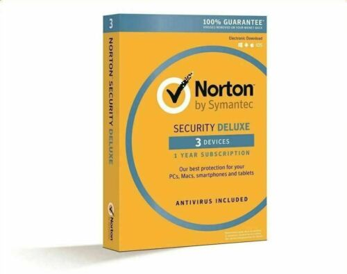 Norton Security Deluxe 3 Devices 1 Year Subscription SYS Builder Edition