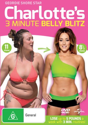 Charlotte Crosbys 3 Minute Belly Blitz DVD Region 4 NEW