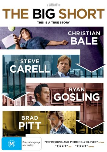 The Big Short DVD Region 4 NEW