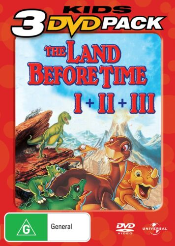 The Land Before Time 1 3 DVD Region 4 NEW