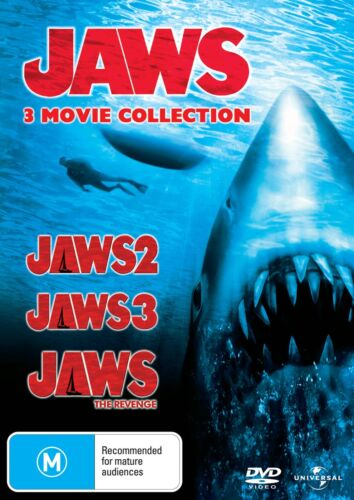 Jaws 2 / Jaws 3 / Jaws The Revenge DVD Region 4 NEW