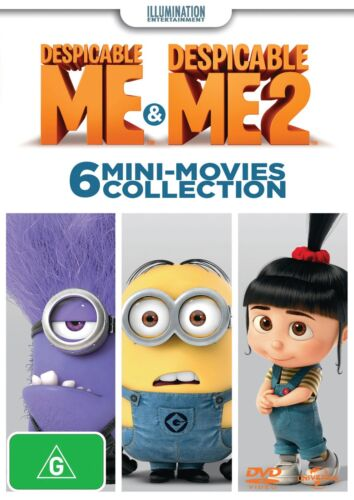 Despicable Me / Despicable Me 2 6 Mini movies Collection DVD Region 4 NEW