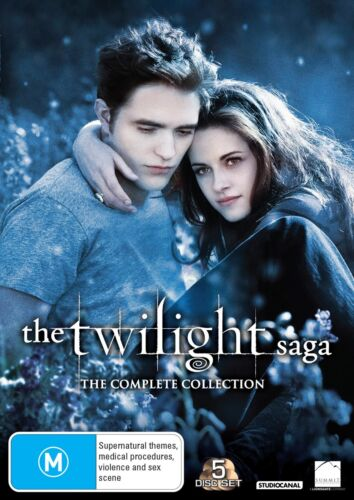 The Twilight Saga The Complete Collection Box Set DVD Region 4 NEW